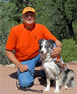 Greg and Search Dog Chill