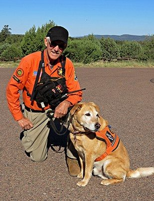 Jim and Search Dog Lewis