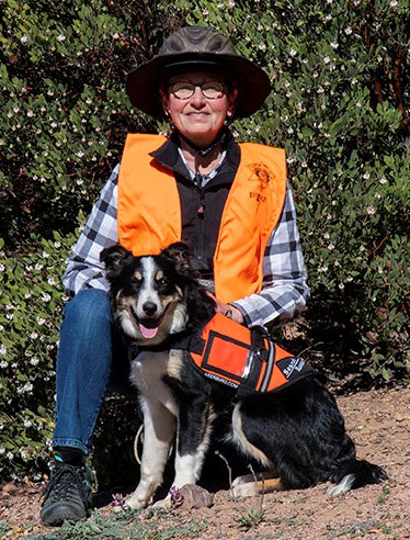 Susan and Search Dog Toulouse
